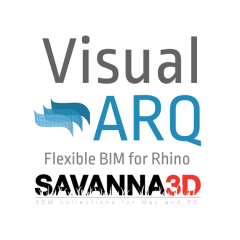 VisualARQ  para Rhino+ Savanna 3D Lab Kit - Escuela