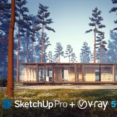 Sketchup Pro + V-Ray 5 - Anual