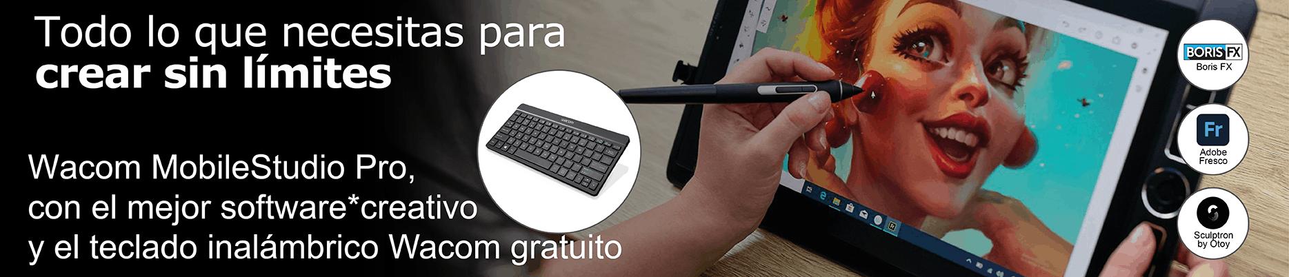 Wacom MobileStudio Pro teclado de regalo