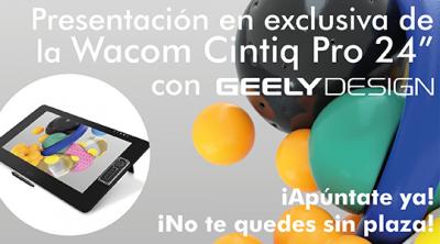 "Presentación en exclusiva Wacom Cintiq Pro 24 "" con Geely Design Barcelona"