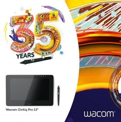 Wacom cumple 35 años innovando creatividad