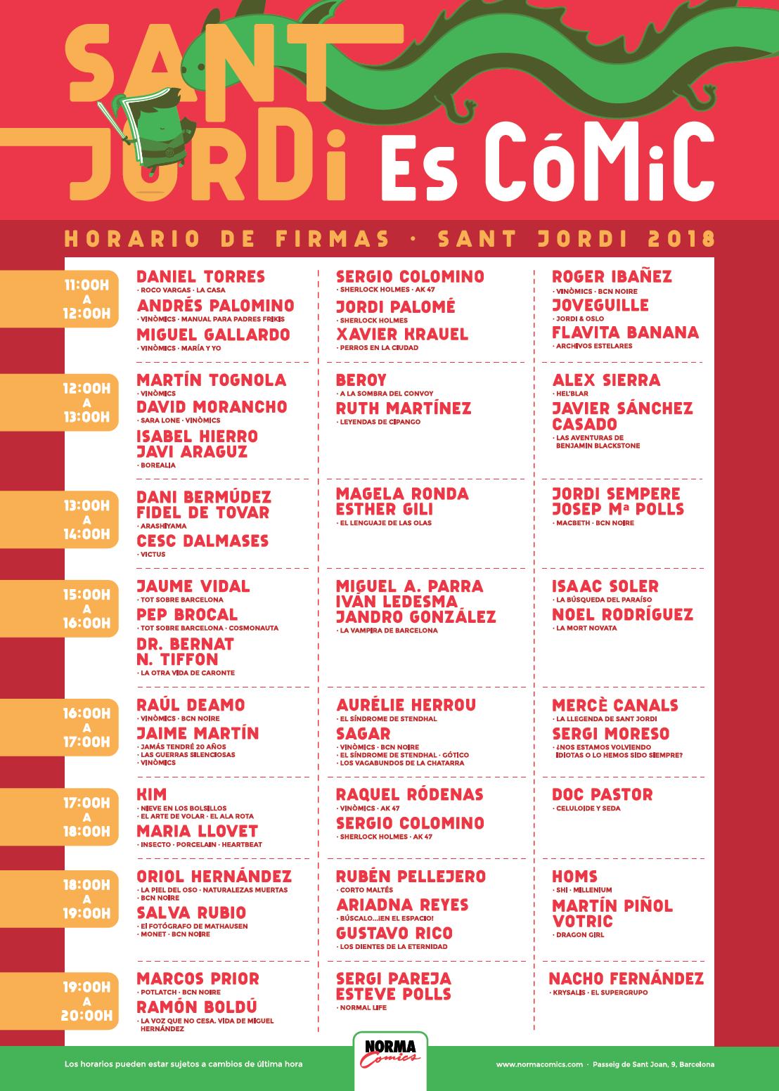 icreatia y Norma Comics en Sant Jordi 2018
