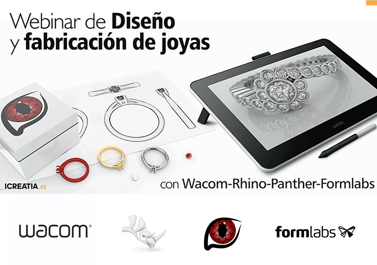 Webinar de Diseño y fabricación de joyas con Wacom-Rhino-Panther-Formlabs
